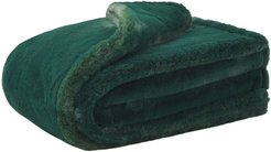 Shirley faux-fur blanket - Green