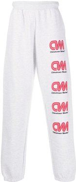 logo-print track trousers - Grey