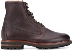 leather desert boots - Brown
