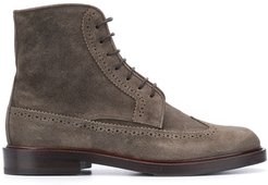 perforated desert boots - Green