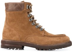 leather lace-up boots - Brown
