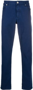 high rise slim-fit jeans - Blue