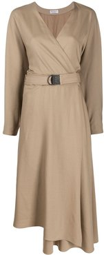 belted dress - Brown