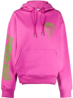 Beyond the Limits print oversized hoodie - PINK