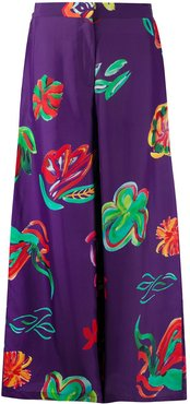 Dianne floral print palazzo trousers - PURPLE