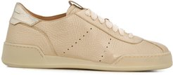 low-top lace-up sneakers - GOLD