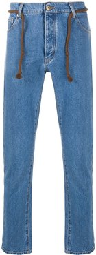 Ilya slim fit jeans with rope - Blue