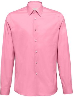 stretch plain shirt - PINK