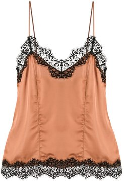 lace top - Brown