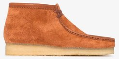 Tan Wallabee suede boots