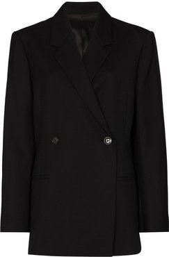 Loreo double-breasted blazer - Black