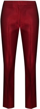 mid-rise cropped trousers - Red