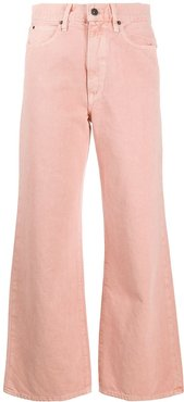 Grace high-waisted wide-leg jeans - PINK