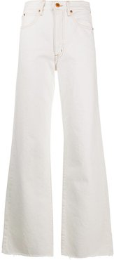Grace wide-leg jeans - White