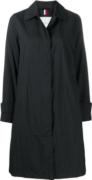 A-line button down coat - Black