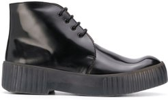 lace-up chukka boots - Black