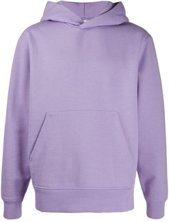ribbed-edge classic-fit hoodie - PURPLE