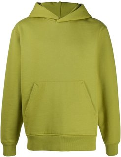 ribbed-edge classic-fit hoodie - Green