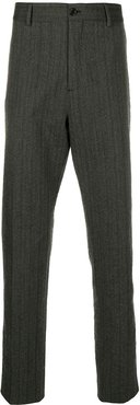 pinstripe suit trousers - Grey