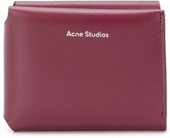 logo-print trifold wallet - Red
