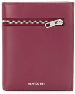 trifold zip wallet - Red