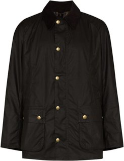 snap-button fastening jacket - OLIVE