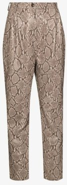 snake print leather trousers