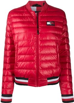 x Rossignol zip-up puffer jacket - Red