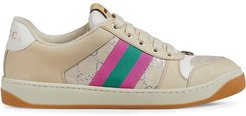 Screener leather sneakers - White