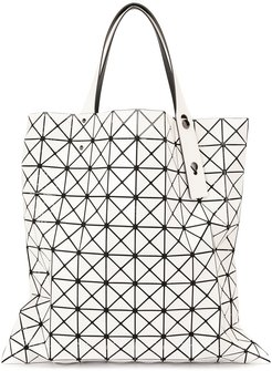 geometric tote bag - White