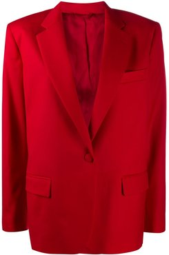 Bianca single-breasted blazer - Red
