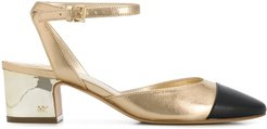 Brie two-tone 60mm pumps - GOLD