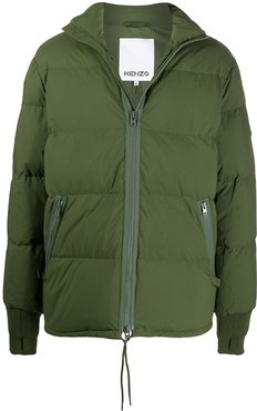 Tiger patch puffer jacket - Green