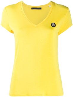 Comfort logo patch T-Shirt - Yellow