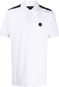 Institutional logo patch polo shirt - White