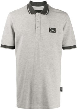 Istitutional logo patch polo shirt - Grey