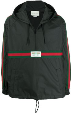 Gucci Label windbreaker jacket - Black