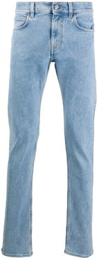 logo embroidery slim-fit jeans - Blue