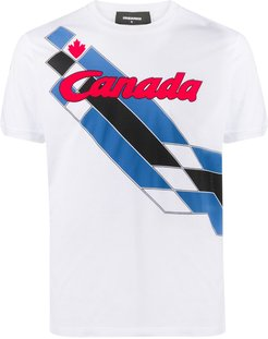 canada graphic cotton t-shirt - White