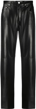 Vinni leather-effect trousers - Black