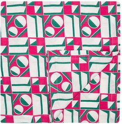 geometric print table cloth - PINK