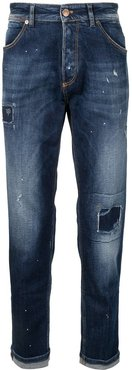 distressed slim-fit jeans - Blue