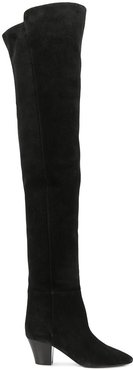 almond-toe knee-high boots - Black