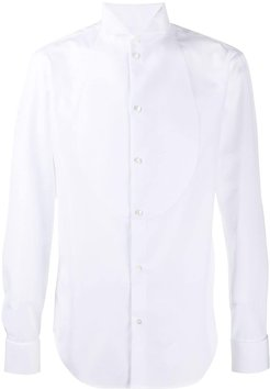 tailored tuxedo shirt - White