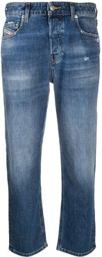 Aryel 009CZ straight cropped jeans - Blue