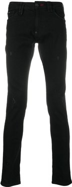 Skull Outline slim-fit jeans - Black