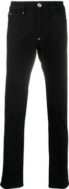 super straight jeans - Black