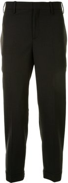 cropped tailored trousers - Black