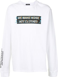 Noise crew neck sweatshirt - White