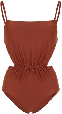 The Gathered Maillot one-piece - Brown